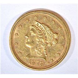 1878-S $2.50 GOLD LIBERTY AU/BU