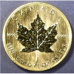 1985 ONE OUNCE .9999 GOLD CANADA MAPLE LEAF