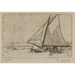 Edward Hopper American Signed Linocut 28/125