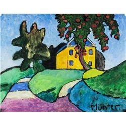 Gabriele Munter German Expressionist Tempera Paper