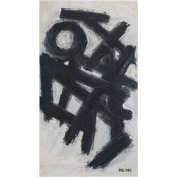 Franz Kline American Abstract Oil on Canvas