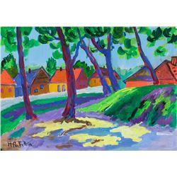 Max Pechstein German Expressionist Oil on Paper