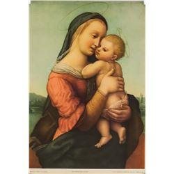 "Raphael NYGS Lithograph ""Madonna Tempi"""
