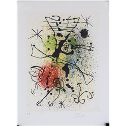 Joan Miro Spanish Surrealist Signed Litho E.A.