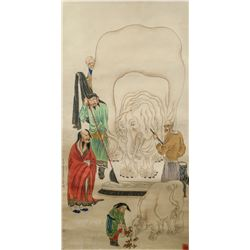 Ding Yunpeng 1547-1628 Chinese Watercolor Elephant