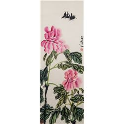 Qi Baishi 1864-1957 Flowers and Insects on Scroll