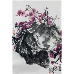 Luren 20th Century Chinese Watercolor Scroll
