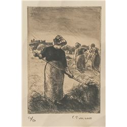 Camille Pissarro French Impress Signed Litho 50/50