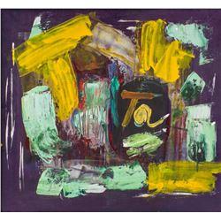 Antoni Tapies Spanish Abstract Oil Canvas