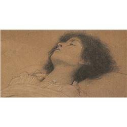 Gustav Klimt Austrian Art Nouveau Signed Litho