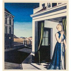 Paul Delvaux Belgian Surrealist Signed Litho H.C.