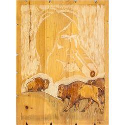 """Keith Morriseau Wood Carving """"Self Subsistency"""""""