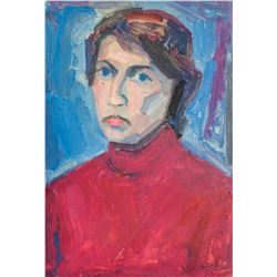 Erma Barrera Bossi Italian Modernist Oil on Board