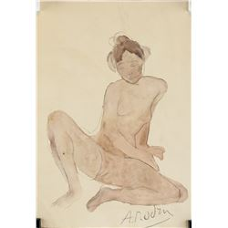 Auguste Rodin French Modernist WC Pencil Paper