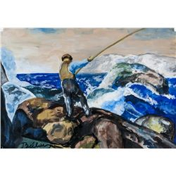 George Bellows US Realist Oil & Tempera Stamped