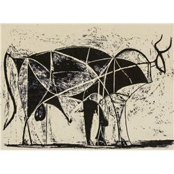 Pablo Picasso Spanish Cubist Signed Linocut EA