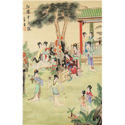 Li Yangfeng Chinese Watercolor Beauties Scroll