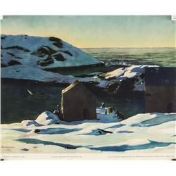 """Rockwell Kent NYGS Lithograph on Paper """"Winter"""""""