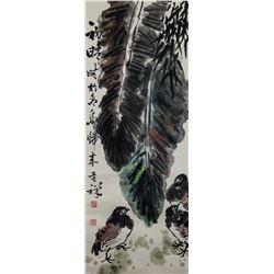 Li Kuchan 1898-1983 Chinese Watercolor Birds