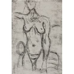 Alberto Giacometti Swiss Linocut XIII/XX Signed