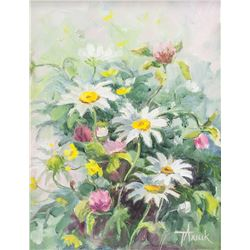 Tanya Axiuk Ukrainian-Canadian Oil on Canvas Still