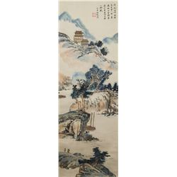 Feng Chaoran 1882-1954 Chinese Watercolor Scroll