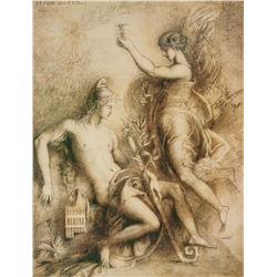 Gustave Moreau French Signed Lithograph 29/50