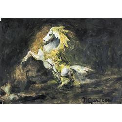Theodore Gericault French Romanticist Tempera Oil