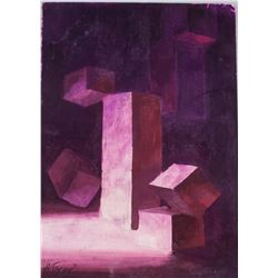 Ivan Puni Russian/French Suprematist Acrylic Board