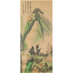 Dai Jin 1388-1462 Chinese Watercolor Landscape