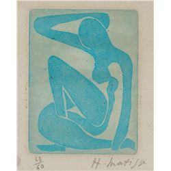 Henri Matisse French Fauvist Signed Linocut 33/60