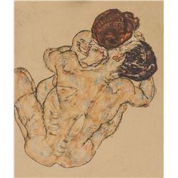 Egon Schiele Austrian Expressionist Litho Nude