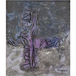 Manolo Millares Spanish Abstract Mixed Media