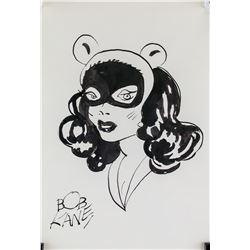 Bob Kane American Pop Ink on Paper Catwoman