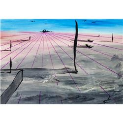 Salvador Dali Spanish Surrealist Tempera Paper