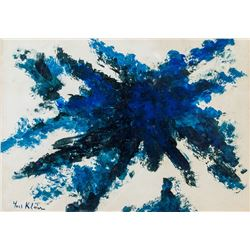Yves Klein French Modernist Oil on Canvas