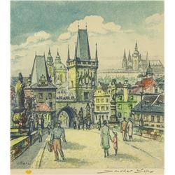 French Litho Artist Signed 1970 with Inscriptions
