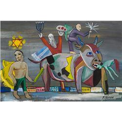 Pavel Filonov Russian Modernist Tempera on Paper