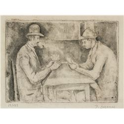 Paul Cezanne French Post-Imp Signed Linocut 25/125