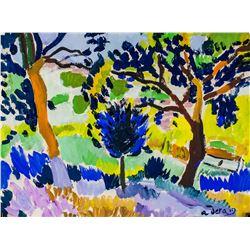 Andre Derain French Fauvist Oil on Paper