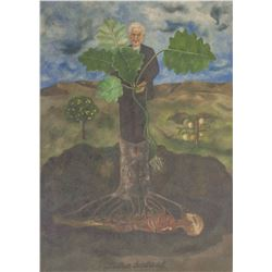 Frida Kahlo Mexican Modernist Signed Lithograph
