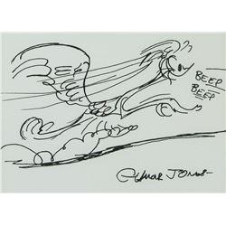 Chuck Jones American Pop Ink on Paper Signed