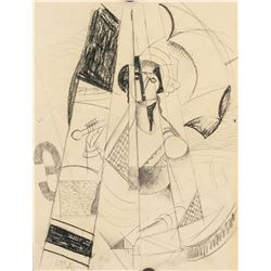 Jean Metzinger French Fauvist Charcoal on Paper