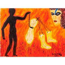 Jimoh Buraimoh b.1943 Nigerian Acrylic on Canvas