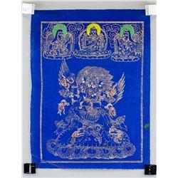 Tibetan Yamantaka Tanka Painting