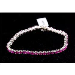 Silver Ruby (7.00ct) Bracelet