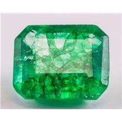 11.30 Ct Natural Green Emerald GGL Certificate