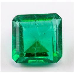 12.10 Ct Emerald Cut Green Quartz with GGL CERT