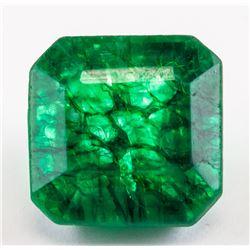 13.35 Ct Natural Cut Green Emerald