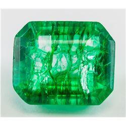 13.85 ct Natural Emerald Gemstone GGL Certificate